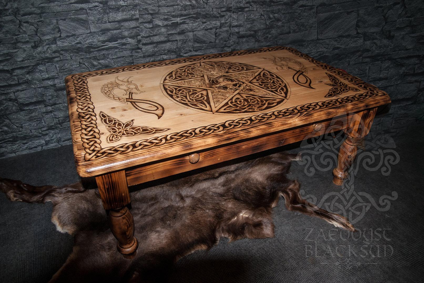 wohnzimmertisch viking zaeddyst blacksun trinkh rner m bel kleidung schmuck und mehr. Black Bedroom Furniture Sets. Home Design Ideas